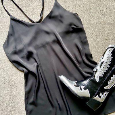 Vestido Seda – Negro