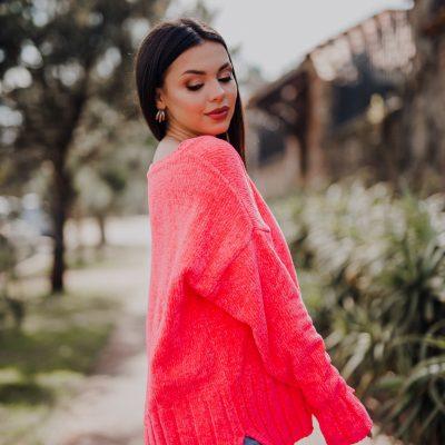 Sweater Fucsia Fluo Chenile