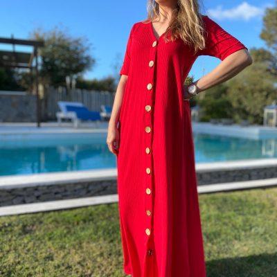 Maxi Vestido Morley Rojo