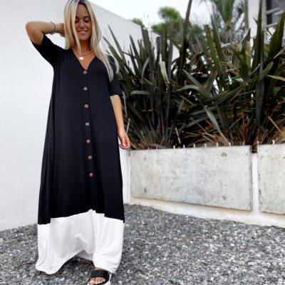 Vestido Mumbai Negro y Blanco