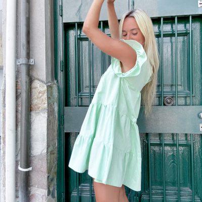 Vestido Milán en Lino Color Verde