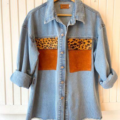 Camisa Jean y Cuero