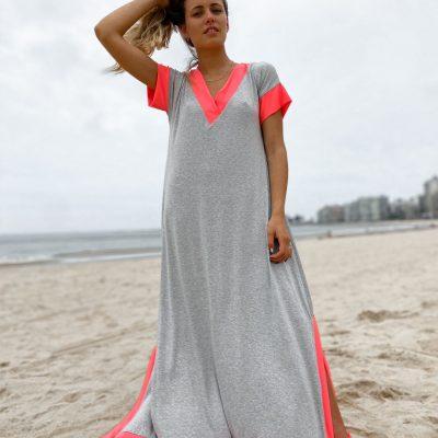 Vestido Camile Gris con Fluo